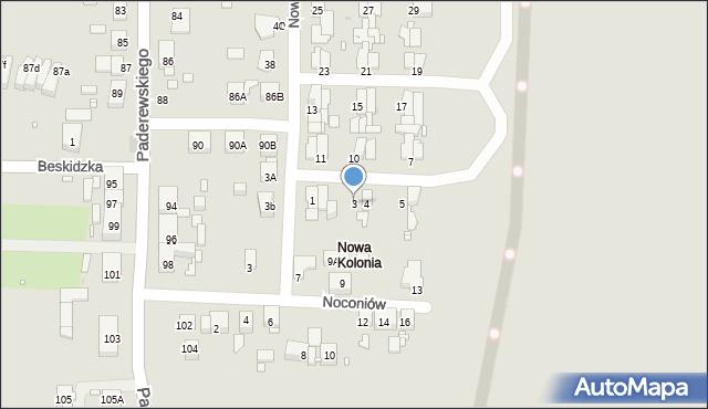 Zabrze, Nowa Kolonia, 3, mapa Zabrza