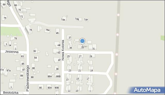 Zabrze, Nowa Kolonia, 33, mapa Zabrza