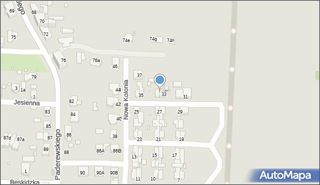 Zabrze, Nowa Kolonia, 34, mapa Zabrza