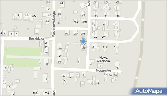 Zabrze, Nowa Kolonia, 3b, mapa Zabrza