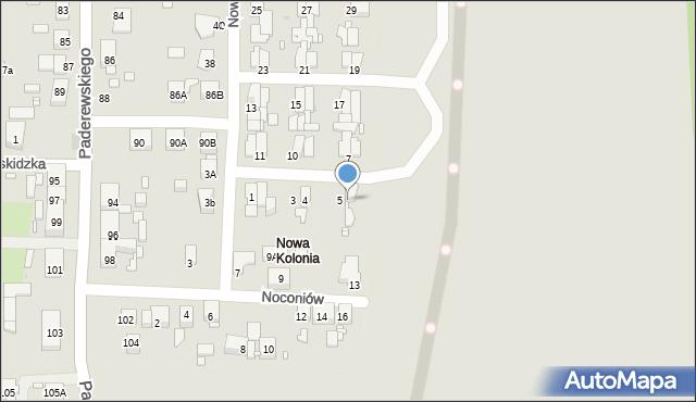 Zabrze, Nowa Kolonia, 6, mapa Zabrza