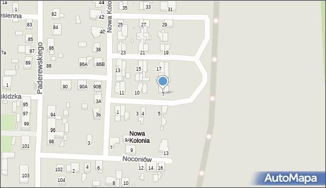 Zabrze, Nowa Kolonia, 7, mapa Zabrza