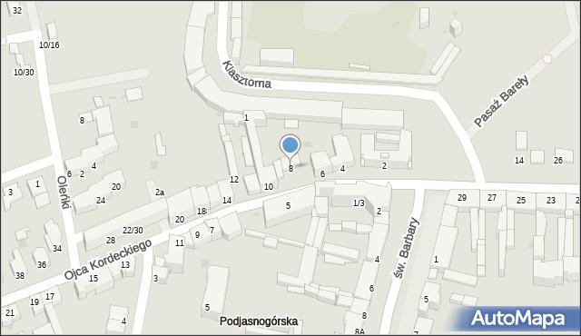 Częstochowa, o. Augustyna Kordeckiego, 8, mapa Częstochowy