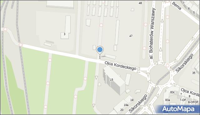 Szczecin, o. Augustyna Kordeckiego, 1, mapa Szczecina