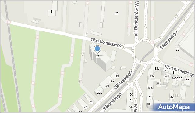 Szczecin, o. Augustyna Kordeckiego, 15, mapa Szczecina
