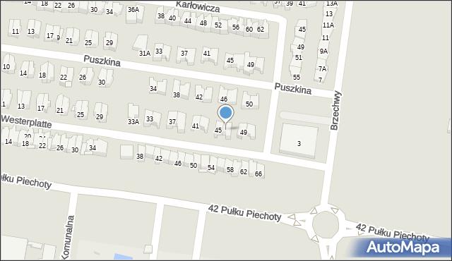 Białystok, Obrońców Westerplatte, 47, mapa Białegostoku