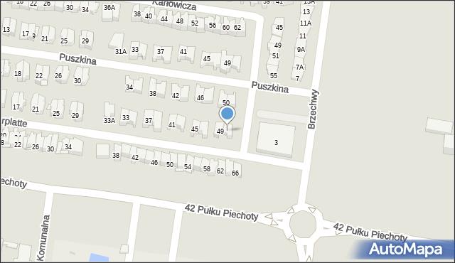 Białystok, Obrońców Westerplatte, 51, mapa Białegostoku