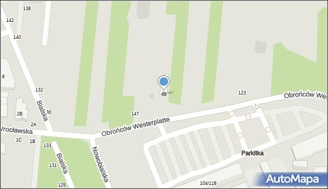 Częstochowa, Obrońców Westerplatte, 68, mapa Częstochowy