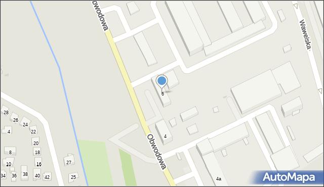 Dobczyce, Obwodowa, 6, mapa Dobczyce