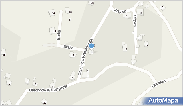 Jawiszowice, Obrońców Westerplatte, 8, mapa Jawiszowice