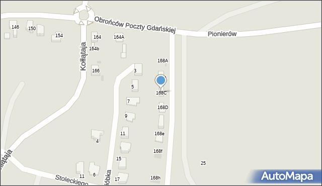 Jaworzno, Obrońców Poczty Gdańskiej, 168C, mapa Jaworzno