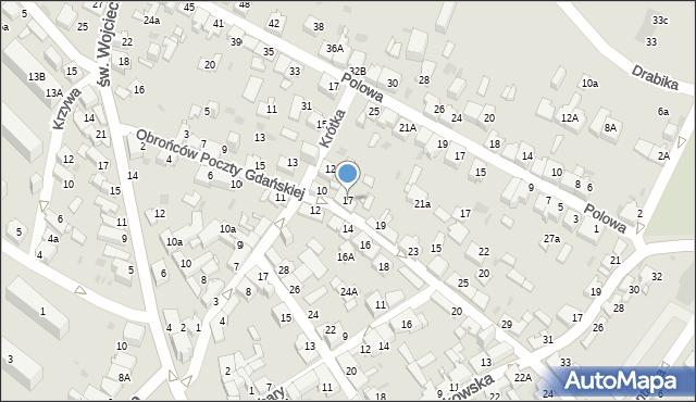 Jaworzno, Obrońców Poczty Gdańskiej, 17, mapa Jaworzno