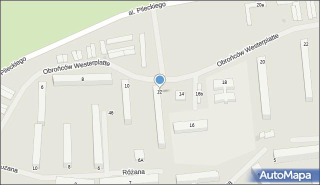 Kętrzyn, Obrońców Westerplatte, 12, mapa Kętrzyn