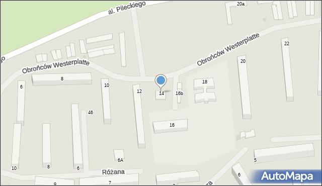 Kętrzyn, Obrońców Westerplatte, 14, mapa Kętrzyn