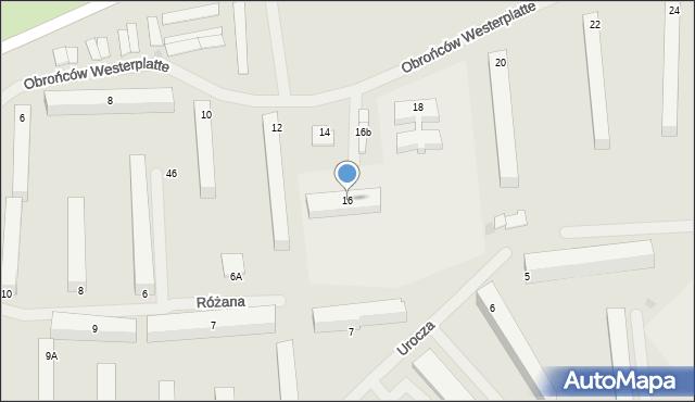 Kętrzyn, Obrońców Westerplatte, 16, mapa Kętrzyn