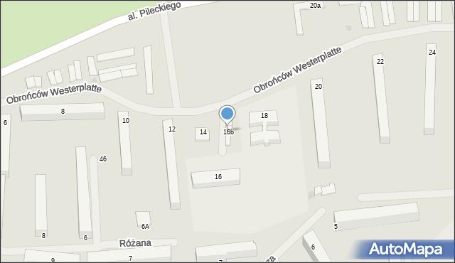 Kętrzyn, Obrońców Westerplatte, 16b, mapa Kętrzyn