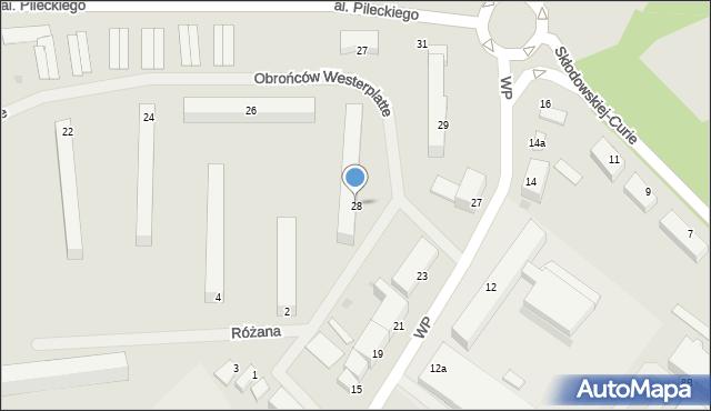 Kętrzyn, Obrońców Westerplatte, 28, mapa Kętrzyn