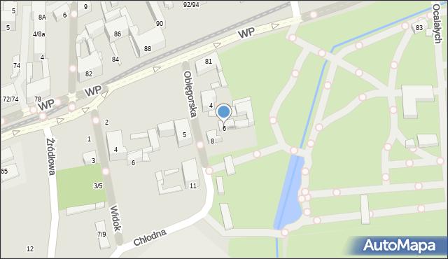 Łódź, Oblęgorska, 6, mapa Łodzi