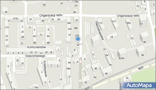 Łódź, Obrońców Westerplatte, 10, mapa Łodzi
