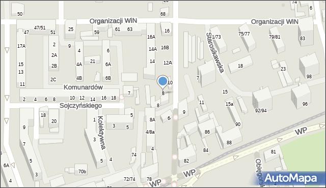 Łódź, Obrońców Westerplatte, 8, mapa Łodzi