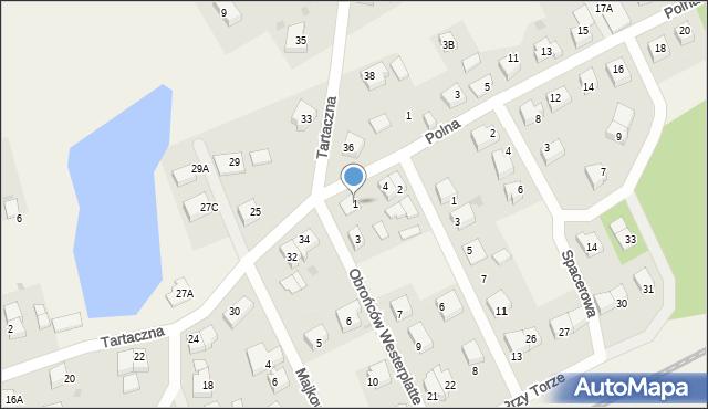 Luzino, Obrońców Westerplatte, 1, mapa Luzino