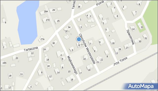 Luzino, Obrońców Westerplatte, 6, mapa Luzino