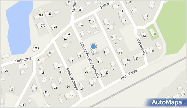 Luzino, Obrońców Westerplatte, 7, mapa Luzino