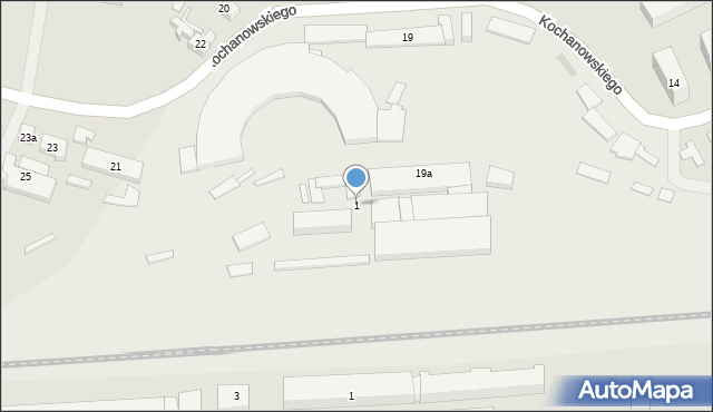 Rzeszów, Obszar Kolei, 1, mapa Rzeszów