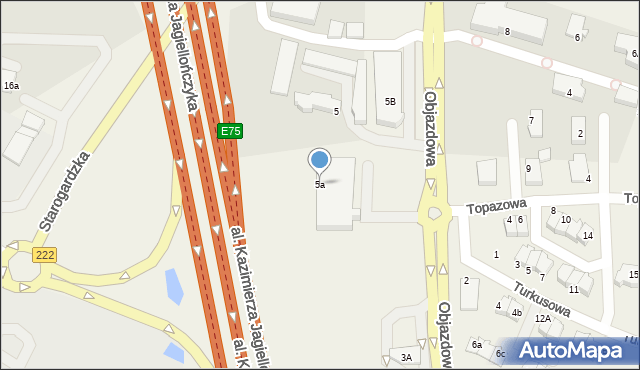 Straszyn, Objazdowa, 5a, mapa Straszyn