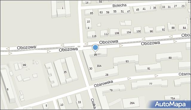 Warszawa, Obozowa, 95, mapa Warszawy