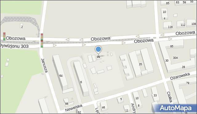 Warszawa, Obozowa, 99, mapa Warszawy