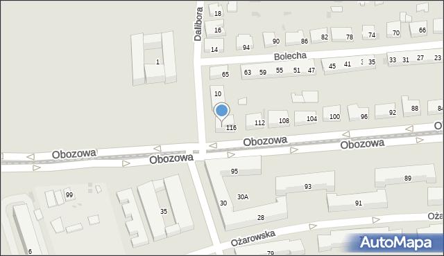 Warszawa, Obozowa, 118, mapa Warszawy