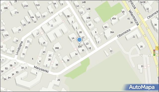 Warszawa, Obornicka, 30A, mapa Warszawy