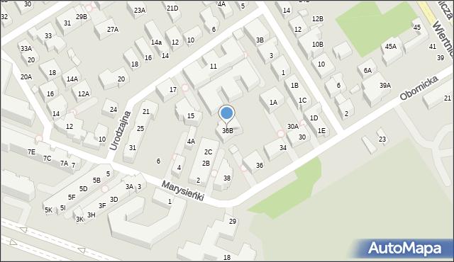 Warszawa, Obornicka, 36B, mapa Warszawy