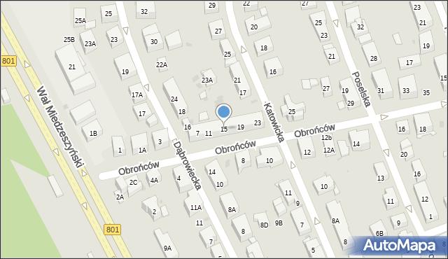 Warszawa, Obrońców, 15, mapa Warszawy