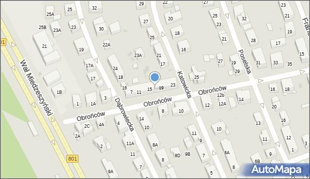 Warszawa, Obrońców, 17, mapa Warszawy