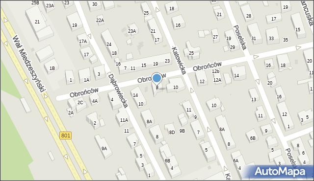 Warszawa, Obrońców, 8A, mapa Warszawy