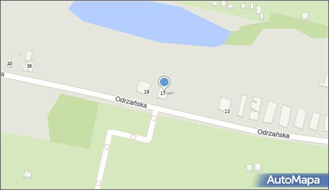 Bytom, Odrzańska, 18, mapa Bytomia