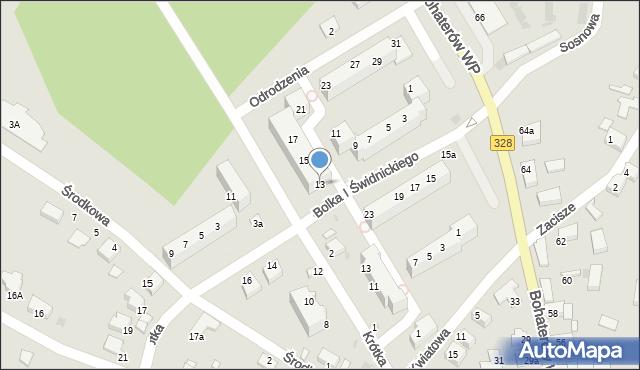 Chocianów, Odrodzenia, 13, mapa Chocianów