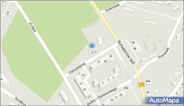 Chocianów, Odrodzenia, 2, mapa Chocianów