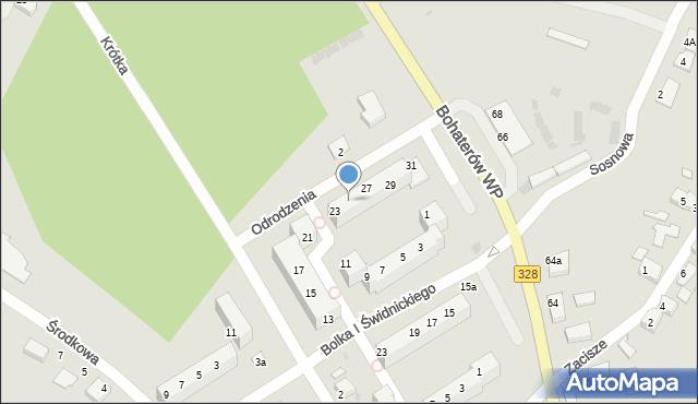 Chocianów, Odrodzenia, 25, mapa Chocianów