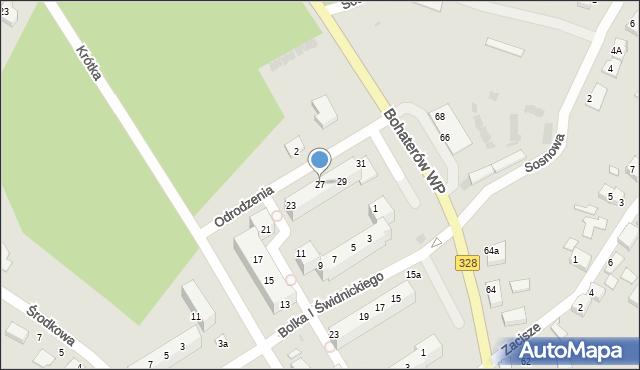Chocianów, Odrodzenia, 27, mapa Chocianów