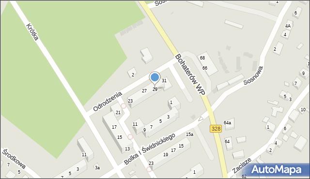 Chocianów, Odrodzenia, 29, mapa Chocianów