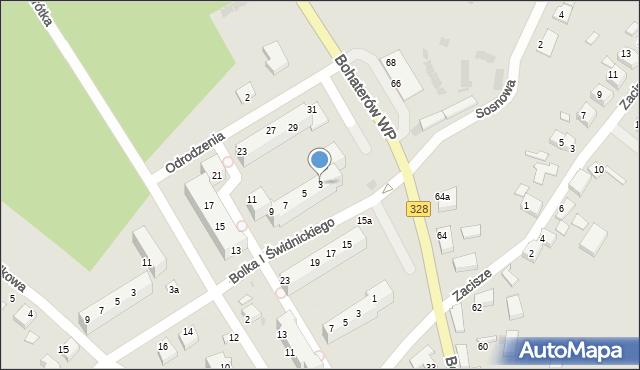 Chocianów, Odrodzenia, 3, mapa Chocianów