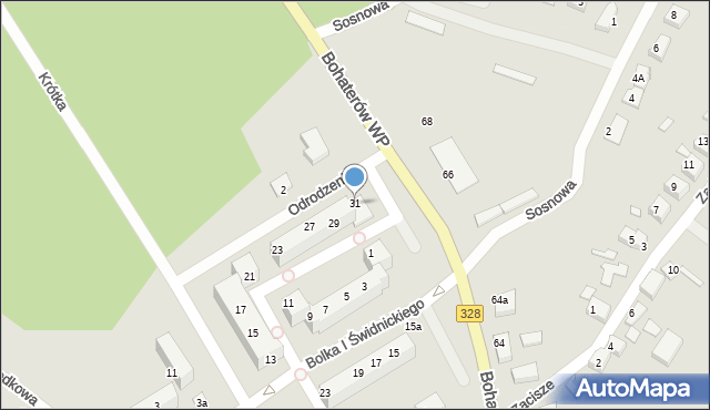 Chocianów, Odrodzenia, 31, mapa Chocianów