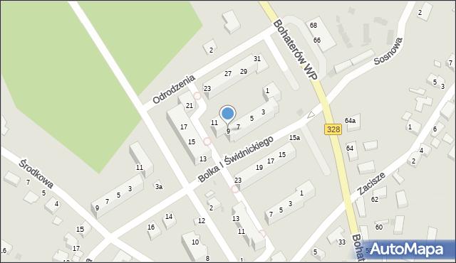 Chocianów, Odrodzenia, 9, mapa Chocianów