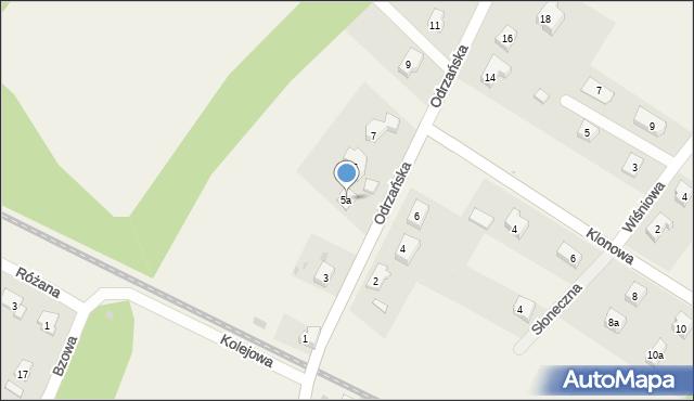 Księginice, Odrzańska, 5a, mapa Księginice
