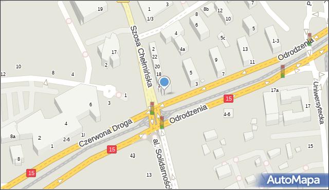 Toruń, Odrodzenia, 1, mapa Torunia