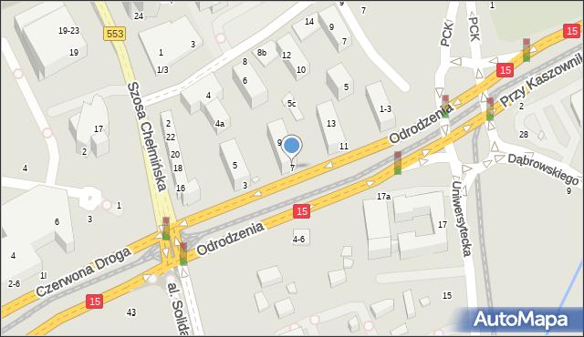 Toruń, Odrodzenia, 7, mapa Torunia