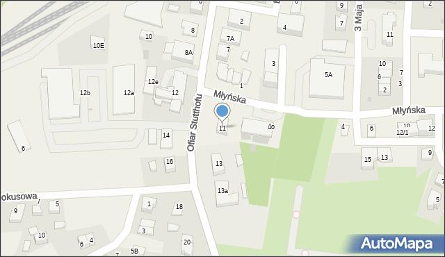 Luzino, Ofiar Stutthofu, 11, mapa Luzino